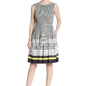 Ellen Tracy: Sleeveless Black and White Dress